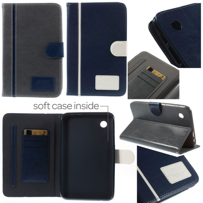 Old School Leather Flip Case Lenovo A3300 Tab A7-30